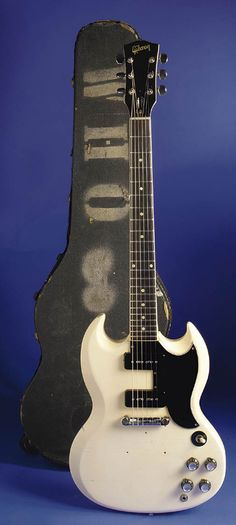 Don't give him the good ones! He doesn't know what to do with nice things!  Pete Townshend's Alpine White SG Special.