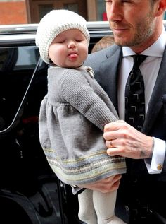 Cutest baby. But really how could she NOT be with parents like Victoria and David Beckham?!