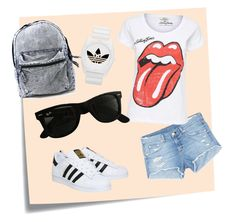 """All day"" by marsia-fashion on Polyvore featuring Post-It, rag & bone/JEAN, adidas and Ray-Ban"