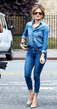 Jennifer Lopez in Mother and J Brand - http://denimology.com/2014/09/jennifer-lopez-in-mother-and-j-brand