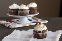 The perfect version of the popular fall drink: Pumpkin Spice Latte Cupcakes!