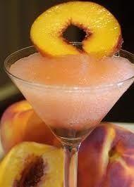 Georgia Peach Martini - 1 oz Coconut Rum, 1 oz Peach Schnapps, 1 oz vodka,  2 oz Ginger Ale