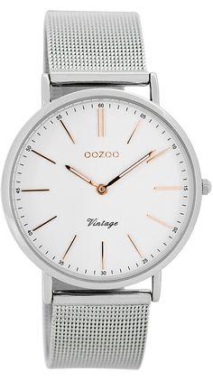 OOZOO C7396 Vintage Damen-Armbanduhr Weiß/Silber jetzt günstig im uhrcenter Uhren Shop bestellen. ✓Geprüfter Online-Shop ✓Versandkostenfrei.