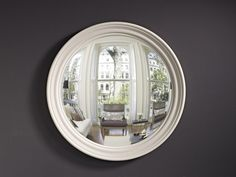 Our Large Roma convex mirror in a chalky pale grey finish. Incredibly versatile colour, suits a spectrum of wall hues and backdrops. Convex Mirror, Mirror Mirror, Small Round Mirrors, Interior Decorating, Interior Design, Home Furnishings, Bristol London, Backdrops, Grey