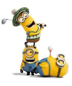 cute little minions golfing! #golf #lorisgolfshoppe