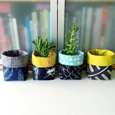 Fabric plant pots! I really love how they turned out! #fabricplanter #plantpot…