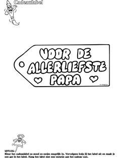 Vaderdag - Cadeaulabel - Knutselpagina.nl - knutselen, knutselen en nog eens knutselen.