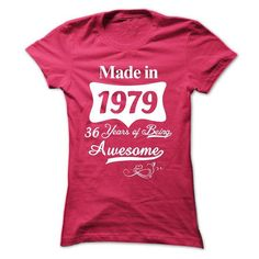 1979 36 Years Of Being Awesome - #country sweatshirt #sweater boots. TRY => https://www.sunfrog.com/Birth-Years/1979-36-Years-Of-Being-Awesome.html?68278