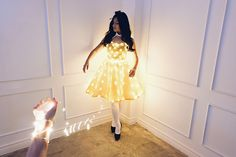 Led Light Dress Alice in Wonderland Debut Theme Designs by Maizy Colleen