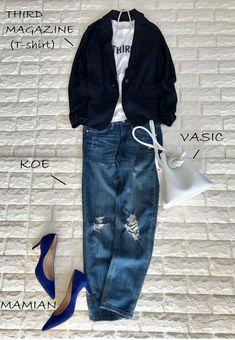 ユニクロのジャケット1枚で変わる!毎日簡単きれいめスタイル【高見えプチプラファッション #3】 | ファッション誌Marisol(マリソル) ONLINE 40代をもっとキレイに。女っぷり上々! Uniqlo, Fasion, Spring Summer, Suits, Jeans, My Style, Womens Fashion, T Shirt, Jackets