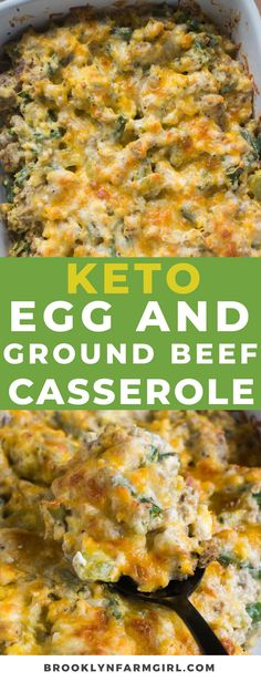 KETO Scrambled Egg Ground Beef Casserole recipe that's easy to make! This baked ground beef casserole is low carb and you can make ahead overnight if you'd like! It's packed with vegetables and sprinkled with cheddar cheese! Easy Meat Recipes, Ground Beef Recipes, Low Carb Recipes, Healthy Recipes, Skinny Recipes, Healthy Habits, Yummy Recipes, Easy Casserole Dishes, Casserole Recipes