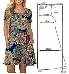 Skirt Patterns Sewing, Clothing Patterns, Simple Dresses, Casual Dresses, Hand Embroidery Dress, Sewing Blouses, Couture Sewing, Types Of Dresses, Fashion Sewing