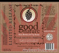 mybeerbuzz.com - Bringing Good Beers & Good People Together...: Good Nature Farm Brewery & Tap Room Releases 2014 ...
