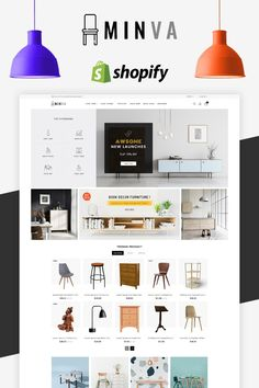 Minva - The Furniture Shop it is a simple and clean layout with elegant design it's easy to install and use. No HTML knowledge requires easy to install and easy to use.It has been built with mobile users in mind. So it looks great on desktops tablets a Web Design, Layout Design, Store Design, Graphic Design, Ecommerce Website Design, Desktop, Photoshop, Shops, Website Design Inspiration