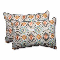 Eresha Oasis Over-sized Rectangular Throw Pillow (Set of 2)