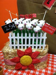 Cow cake pops
