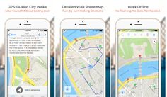 Travel planning with GPS-guided maps