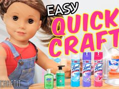 Diy Ag Dolls, Ag Doll Crafts, Diy Doll, Dolls Dolls, American Girl Doll Room, American Girl Crafts, American Girls, Diy Crafts For Girls, Quick Crafts
