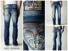 LBJC Denim Men's Swarovski Crystal Cove Jeans - weekend ready gear! www.lagunabeachjc.com #lbjcdenim