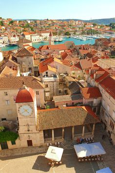 Rooftop view of Trogir Croatia.