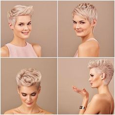 Today we have the most stylish 86 Cute Short Pixie Haircuts. We claim that you have never seen such elegant and eye-catching short hairstyles before. Pixie haircut, of course, offers a lot of options for the hair of the ladies'… Continue Reading → Cute Pixie Cuts, Blonde Pixie Cuts, Short Blonde, Short Pixie Haircuts, Pixie Hairstyles, Short Hair Cuts, Cool Hairstyles, Ladies Hairstyles, Oval Face Haircuts
