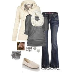 Grey and White, created by callico32 on Polyvore