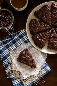 Double Chocolate Scones are a chocoholic's paradise. Perfect with your morning coffee. #scones #chocolate