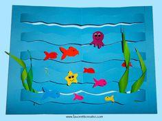 Lavoretti estate con la carta – Mare con pesci