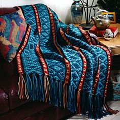 Tribal Spirit Cover Up Mile a Minute style afghan by Kathleen D. Garen free pattern here http://us2.campaign-archive1.com/?u=2a091a437711eee885624a193&id=7413883663
