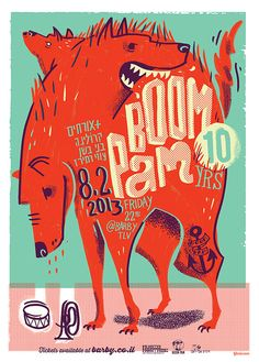 Illustration and and design for the upcoming anniversary gig for the band Boom Pam. Graphic Design Posters, Graphic Design Illustration, Graphic Art, Illustration Art, Banners, Band Posters, Music Posters, Retro Posters, Graphisches Design