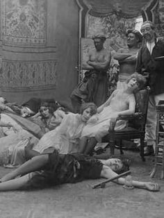 It is from a movie. A Victorian era opium den. By the early 20th century, opium users had shunned public smoking spheres for private consumption in their own homes.   - ALLDAY