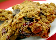 Oatmeal, Chocolate & Cranberry Cookies