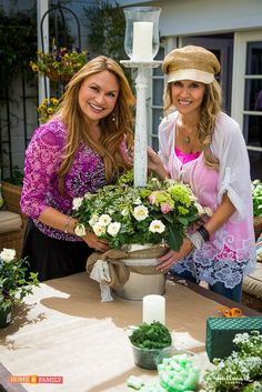 """LIVE PLANTS INSTEAD OF Cut WEDDING FLOWERS! SET YOUR DVR FOR TOMORROW! I make """"Living Wedding Luminaries,"""" using live plants instead of cut flowers so that bride and groom, Paige and Jason can plant their wedding flowers in their garden! So easy. Home & Family show on Hallmark Channel USA, Tuesday at 10AM pst."""
