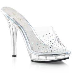 8f66671aa31 LIP-101SD Fabulicious Sexy 5 Inch Heel Rhinestone Platforms Slip on Shoes