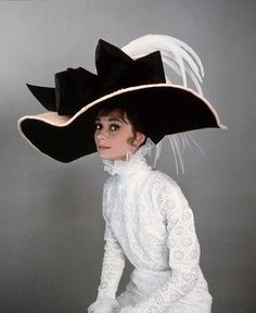 Photographs of Audrey Hepburn in My Fair Lady costuming