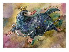#aquarelle #fantasticbeasts #harrypotter #harrypotterfanart #niffler #traditionalart #watercolor #fantasticbeastsandwheretofindthem #fanarttraditionalart #nifflerfanart (show less)