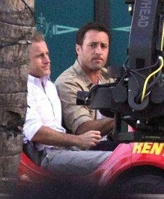 Alex O'Loughlin - 'Hawaii Five-O' Films in Waikiki