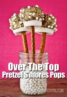 Over The Top Pretzel S'mores Pops by Love From The Oven