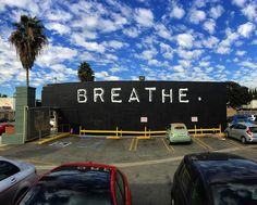 That breath that you just took... that's a gift. - New mural at 728 N. La Brea Los Angeles CA. By @rubenrojas #beautifyearth