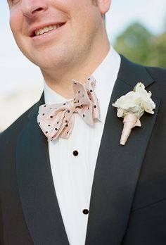 Brooks Brothers pink polka dot bow tie (Photo: Kate Headley)