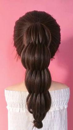 Hairdo For Long Hair, Bun Hairstyles For Long Hair, Cute Hairstyles, Braided Hairstyles, Front Hair Styles, Medium Hair Styles, Hair Style Vedio, Hair Upstyles, Aesthetic Hair