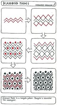 free zentangle how to patterns | DRAWING zentangles patterns