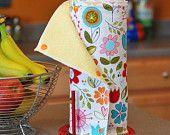 Reusable Cloth Paper Towels that snap together!  Fabulous idea!!!