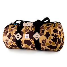 Topo Designs Duffle Bag    This duffel bag is made with ultra durable Cordura fabric – making it the perfect bag for throwing around. We are also very fond of the bright print to perk up our daily routine.