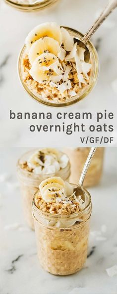 Dairy Free Breakfasts, Gluten Free Recipes For Breakfast, Dairy Free Recipes, Gourmet Recipes, Drink Recipes, Oats Recipes, Lemon Recipes, Freezer Recipes, Dairy Free Overnight Oats