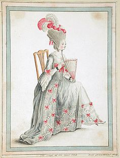 18th century fashion plate
