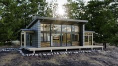 Timberframe Homes - Discovery Dream Homes Small Modern Cabin, Modern Small House Design, Small Cabins, Small Cottage Homes, Cottage House Plans, Lake Cottage, Cottage House Designs, Cottage Design, Waterfront Cottage