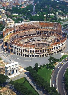 Colosseo, Rome, italy >>> aka the Coliseum, Collosseum or Flavian Amphitheatre (as it was built by the emperors of Rome's Flavian dynasty). I'm amazed that so much of it survived from antiquity really.