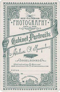 Atelieri O. Haapala Cabinet Cards