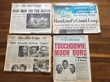 Vintage Newark Star Ledger, Evening Times, Trentonian Newspapers- Astronauts